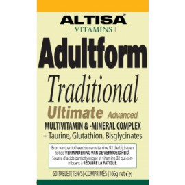Altisa Adultform Traditional Ultimate Advanced multi vitaminen-mineralen complex - 60tabs