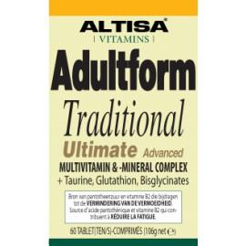 Altisa Adultform Traditional Ultimate Advanced multi vitaminen-mineralen complex - 60tabs
