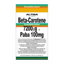 Altisa Beta-Carotene (D.Salina) 7200mcg + PABA 100mg - 60caps