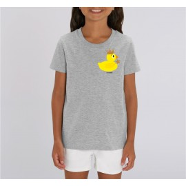 Golden Crown Duck Tshirt Kids - Grey - Unisex