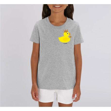 Golden Crown Duck Tshirt Kids - Grey - Unisex