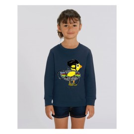 Cycling Duck Sweater Kids - Navy - Unisex