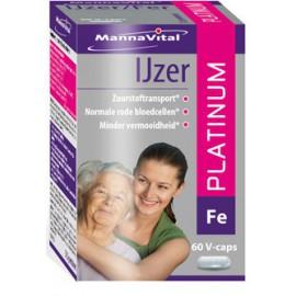 MannaVital Ijzer Platinum 60 V-caps