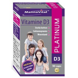 MannaVital Vitamine D3 Platinum pearls 90 caps